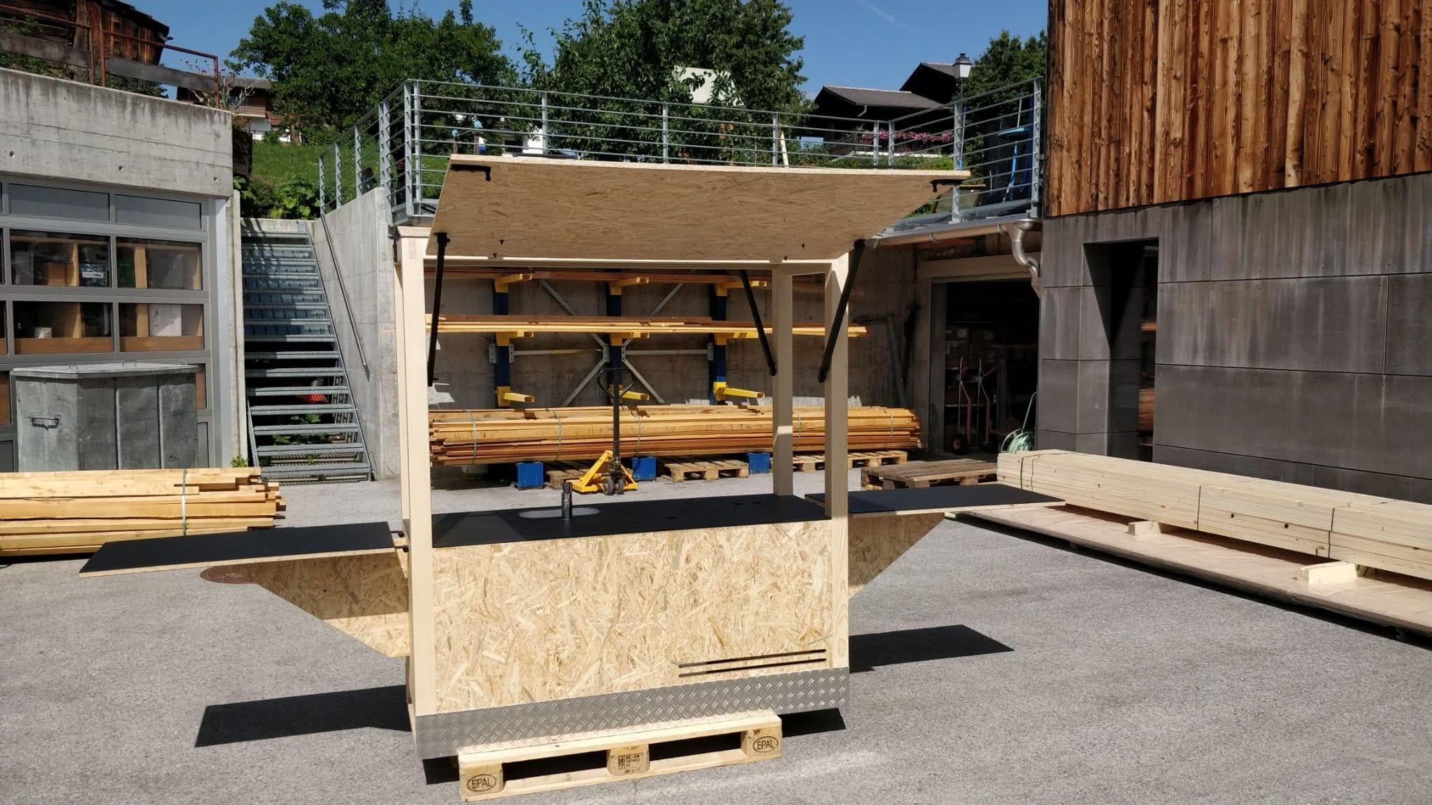 Construction de la charette chez Lathion frères à Haute-Nendaz